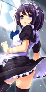 Rating: Questionable Score: 35 Tags: maid nishikou_meri pantsu seifuku skirt_lift thighhighs User: 椎名深夏