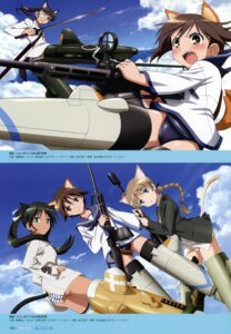 Rating: Questionable Score: 5 Tags: animal_ears francesca_lucchini gun lynette_bishop miyafuji_yoshika pantsu sakamoto_mio strike_witches sword tail User: Nepcoheart