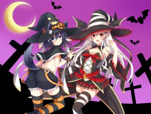 Rating: Safe Score: 55 Tags: animal_ears ass bloomers cleavage halloween kuzuyu tail thighhighs witch User: Mr_GT