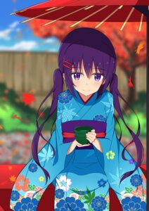 Rating: Safe Score: 30 Tags: gochuumon_wa_usagi_desu_ka? kimono mottsun tedeza_rize umbrella User: charunetra
