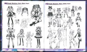 Rating: Safe Score: 9 Tags: character_design choujigen_game_neptune crease sketch stockings sword thighhighs User: Karm80