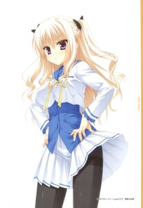 Rating: Safe Score: 39 Tags: bra-ban! hibarigaoka_yuki muririn pantyhose seifuku skirt_lift yuzu-soft User: Twinsenzw