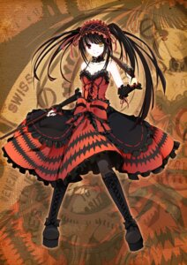 Rating: Safe Score: 63 Tags: date_a_live dress gothic_lolita gun heterochromia lac lolita_fashion stockings thighhighs tokisaki_kurumi User: 紫幽恋