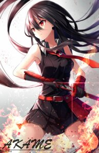 Rating: Safe Score: 93 Tags: akame akame_ga_kill! dress nikkunemu sword User: Aneroph