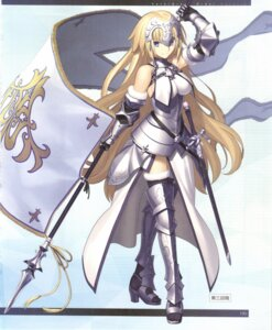 Rating: Safe Score: 25 Tags: armor fate/grand_order heels jeanne_d'arc jeanne_d'arc_(fate) sword takeuchi_takashi thighhighs User: Saturn_V