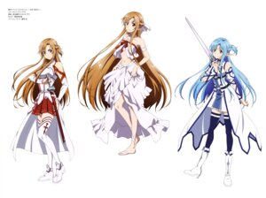 Rating: Questionable Score: 56 Tags: armor asuna_(sword_art_online) heels pointy_ears sword sword_art_online tanabe_kenji thighhighs User: drop