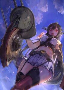 Rating: Safe Score: 41 Tags: akasa_ai kantai_collection nagato_(kancolle) stockings thighhighs User: Mr_GT