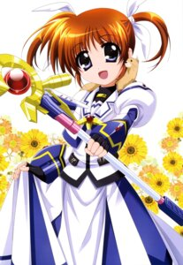 Rating: Safe Score: 25 Tags: dress higa_yukari mahou_shoujo_lyrical_nanoha takamachi_nanoha weapon yuuno_scrya User: drop
