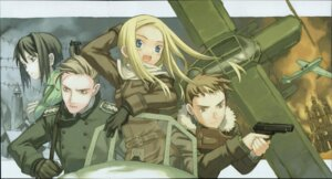 Rating: Safe Score: 5 Tags: allison_series allison_to_lillia allison_whittington carr_benedict fiona gun kuroboshi_kouhaku mecha uniform wilhelm_schultz User: Radioactive