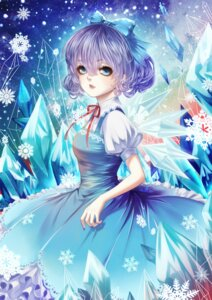 Rating: Safe Score: 10 Tags: cirno dress jiaotu touhou wings User: charunetra