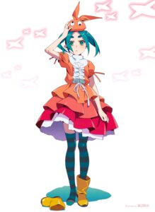 Rating: Safe Score: 46 Tags: dress monogatari_(series) ononoki_yotsugi thighhighs tsukimonogatari watanabe_akio User: tosaka