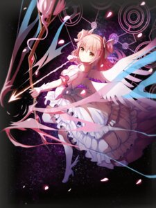 Rating: Safe Score: 58 Tags: dress heels puella_magi_madoka_magica red_flowers ultimate_madoka weapon wings User: Mr_GT