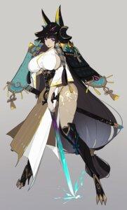 Rating: Questionable Score: 24 Tags: animal_ears armor heels helic_(7317helic) japanese_clothes no_bra pantsu sword tattoo User: Dreista