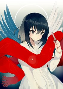 Rating: Safe Score: 16 Tags: blood dress kagura_kurosaki mikasa_ackerman shingeki_no_kyojin weapon wings User: charunetra