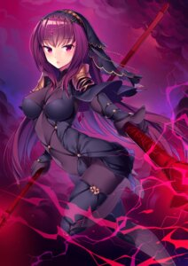 Rating: Safe Score: 35 Tags: armor bodysuit fate/grand_order heels may_(2747513627) scathach_(fate/grand_order) thighhighs weapon User: mash