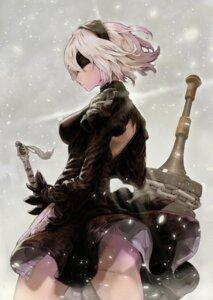Rating: Questionable Score: 17 Tags: ass dress hoshizaki_reita nier_automata pantsu sword yorha_no.2_type_b User: mash