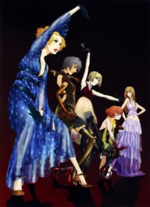 Rating: Safe Score: 5 Tags: claire_forrest cleavage dress heels kate_ashley no_bra rachel_benning red_garden rose_sheedy see_through tagme thighhighs User: saemonnokami