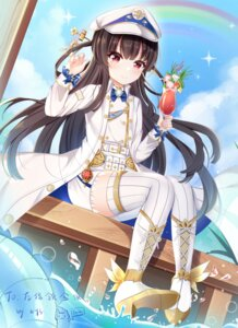 Rating: Safe Score: 23 Tags: garter hachiroku heels maitetsu miaoguujuun_qvq thighhighs uniform wet User: Arsy