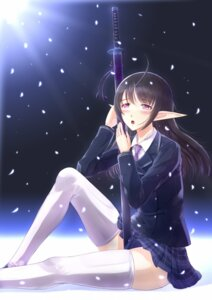 Rating: Safe Score: 31 Tags: elf kazeno pointy_ears seifuku shining_blade shining_tears shining_wind shining_world sword thighhighs xecty_ein User: Radioactive