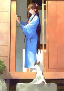 Rating: Safe Score: 18 Tags: kimono neko okazaki_takeshi User: Bulzeeb