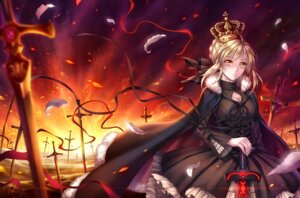 Rating: Safe Score: 53 Tags: dress fate/stay_night fate/zero saber saber_alter sword tid User: Radioactive
