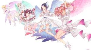 Rating: Safe Score: 23 Tags: cleavage dress hayami_kanade heels ichinose_shiki ilo jougasaki_mika miyamoto_frederica shiomi_shuuko the_idolm@ster the_idolm@ster_cinderella_girls thighhighs wings User: charunetra