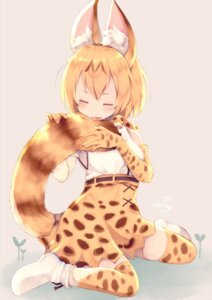 Rating: Safe Score: 24 Tags: animal_ears chita_(ketchup) kemono_friends serval tail thighhighs User: Mr_GT
