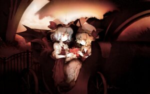 Rating: Safe Score: 18 Tags: flandre_scarlet remilia_scarlet touhou wings yoshioka_yoshiko User: hobbito