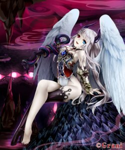 Rating: Safe Score: 44 Tags: heterochromia horns thighhighs toi3toi wings User: Radioactive