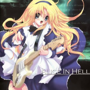 Rating: Safe Score: 6 Tags: alice alice_in_wonderland disc_cover guitar maid odagiri_sakura User: waha