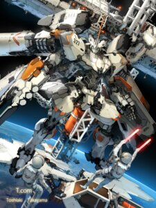 Rating: Safe Score: 40 Tags: gun landscape mecha takayama_toshiaki weapon User: Radioactive