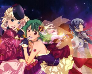 Rating: Safe Score: 16 Tags: dress macross macross_frontier ranka_lee saotome_alto sheryl_nome User: Ravenblitz