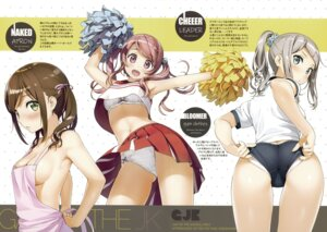 Rating: Safe Score: 101 Tags: 5_nenme_no_houkago ass bra buruma cheerleader gym_uniform kantoku kurumi_(kantoku) naked_apron pantsu shimapan shirt_lift skirt_lift tagme User: Hatsukoi