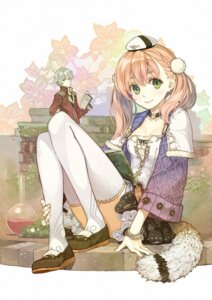 Rating: Safe Score: 80 Tags: atelier atelier_escha_&_logy cleavage digital_version escha_malier hidari logix_ficsario thighhighs User: saemonnokami