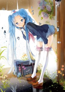 Rating: Safe Score: 116 Tags: anmi garter hatsune_miku megane seifuku thighhighs vocaloid User: Radioactive