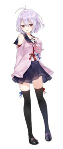Rating: Safe Score: 78 Tags: azure0608 nyutou_nodoka onsen_musume seifuku sweater thighhighs User: fireattack