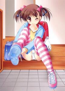 Rating: Questionable Score: 49 Tags: kamiya_tomoe loli pantsu thighhighs User: petopeto