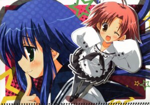 Rating: Safe Score: 11 Tags: ikegami_akane izumi_konata kogami_akira lucky_star paper_texture User: admin2