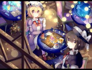 Rating: Safe Score: 22 Tags: dress kaenuco maribel_hearn thighhighs touhou usami_renko User: charunetra
