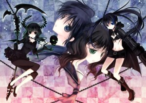 Rating: Safe Score: 25 Tags: bikini_top black_rock_shooter black_rock_shooter_(character) dead_master horns keiko kuroi_mato takanashi_yomi vocaloid User: blooregardo