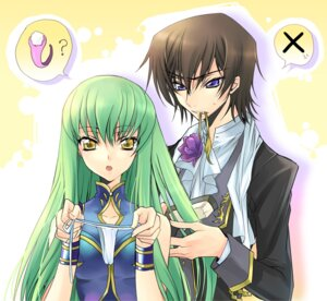 Rating: Safe Score: 21 Tags: c.c. code_geass creayus lelouch_lamperouge rangetsu User: yumichi-sama