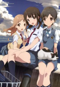 Rating: Safe Score: 57 Tags: miyamoto_konatsu neko okita_sawa sakai_wakana seifuku tanu tari_tari User: Jigsy