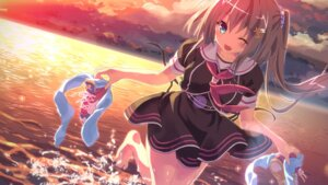 Rating: Safe Score: 92 Tags: kinokonomi konomi minori miyakaze_yuuri seifuku trinoline wallpaper wet User: HY_Little