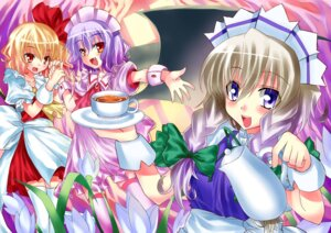 Rating: Safe Score: 6 Tags: eaglebreak flandre_scarlet izayoi_sakuya remilia_scarlet touhou User: charunetra
