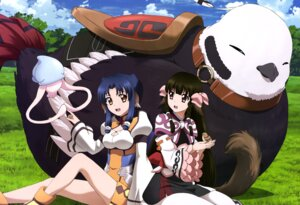 Rating: Safe Score: 40 Tags: animal_ears atui_(utawarerumono) rurutie_(utawarerumono) tail utawarerumono_itsuwari_no_kamen User: drop