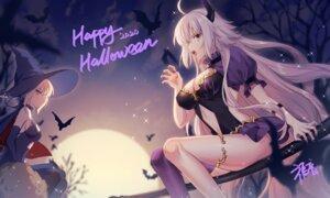 Rating: Questionable Score: 23 Tags: dress fate/grand_order garter gogatsu_fukuin halloween horns jeanne_d'arc jeanne_d'arc_(alter)_(fate) no_bra saber saber_alter thighhighs witch User: Mr_GT