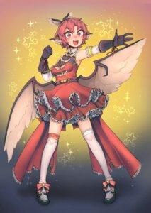 Rating: Safe Score: 7 Tags: animal_ears dress heels mystia_lorelei pigeoncrow thighhighs touhou wings User: Mr_GT