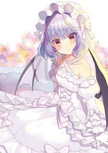 Rating: Safe Score: 21 Tags: beni_kurage dress remilia_scarlet touhou wedding_dress wings User: Mr_GT