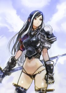 Rating: Questionable Score: 25 Tags: armor okuto pantsu sword thighhighs User: saemonnokami