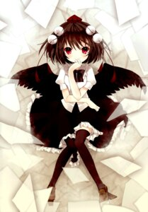 Rating: Safe Score: 32 Tags: color_issue matsuda_shima shameimaru_aya stripe2 thighhighs touhou User: Radioactive